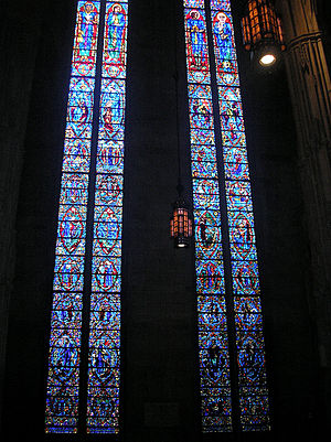 Charles Jay Connick - Connick's 73-foot (22 m) tall transept windows of Heinz Memorial Chapel at the University of Pittsburgh are among the tallest in the world
