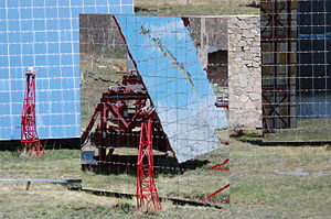 Odeillo solar furnace - One of the 63 heliostats