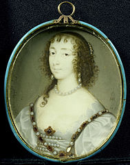 Portrait of Henriëtte Maria of France (1609-1669), wife of Charles I of England