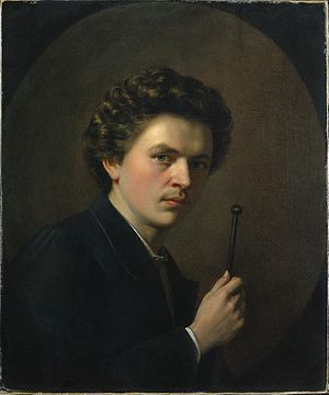 Henri Regnault - Self-portrait of Henri Regnault, c. 1863.
