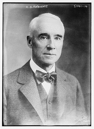 Henry Bradford Endicott - Henry Bradford Endicott circa 1915