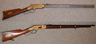 Winchester rifle - 1860 Henry and 1866 Winchester Musket.