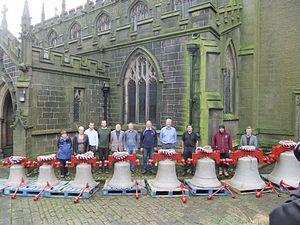 Heptonstall - Heptonstall bells on return to the tower in 2012.
