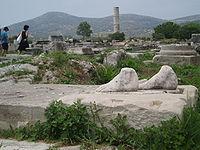 Heraion antika fötter, Samos, Grekland.JPG