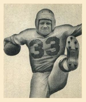 Jack Banta (American football) - Banta on a 1948 Bowman football card