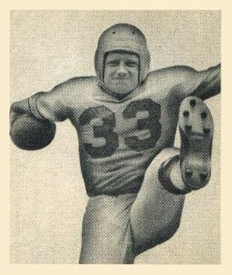 Jack Banta (American football) - Banta on a 1948 Bowman football card