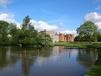 Derwent College, York - View across the University Lake towards Derwent College and Heslington Hall