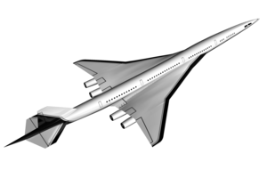 High Speed Civil Transport - HSCT conceptual render released on July 1998
