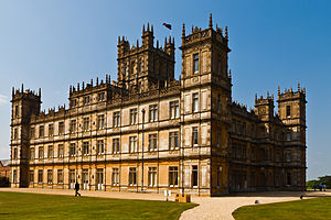 Downton Abbey - Highclere Castle, used for interior and exterior filming of Downton Abbey