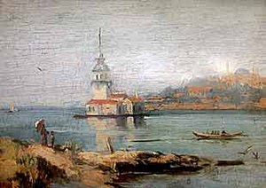 Hoca Ali Rıza - The Maiden's Tower (1894)