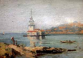 Hoca Ali Rıza - The Maiden's Tower (1894)