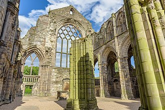 Holyrood Palace - The ruins of the Augustinian Holyrood Abbey