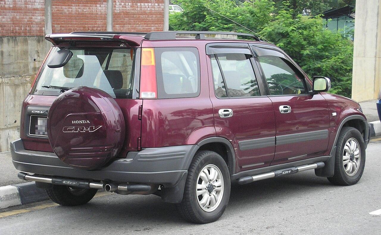 File:Honda CR-V (first generation) (rear), Kuala Lumpur.jpg - Wikimedia Commons