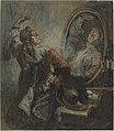 Honoré Daumier, Actor Posing in Front of a Mirror, NGA 6419.jpg
