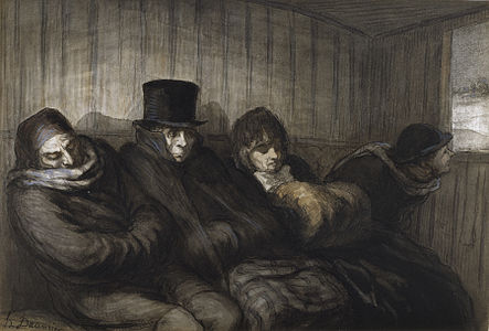 Honoré Daumier - The Second Class Carriage - Walters 371224