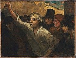 Honoré Daumier: The Uprising (L'Emeute)