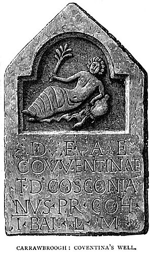 Inscribed bas-relief of Coventina