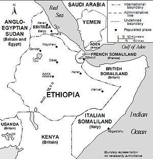 English: Horn of Africa and Southwest Arabia i...