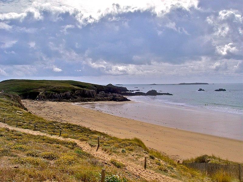 Salus beach in Isle of Houat, Morbihan, France