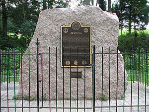 Sam Houston - Sam Houston Birthplace Marker in Rockbridge County, Virginia