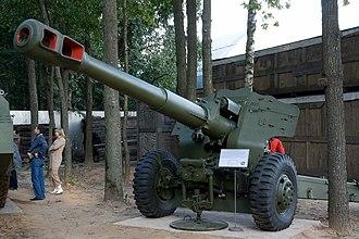 152 mm towed gun-howitzer M1955 (D-20) - Image: Howitzer D 20