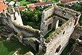 Hrad Rabí s hradním kostelem Nejsvětější Trojice, část stojící, část zřícenina a archeologické stopy (Rabí) (13).jpg