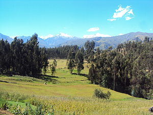 Huaraz - Huaraz is surrounded by prairies and forests in the middle of the valley.