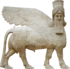 Human headed winged bull facing.png