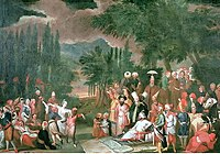 History of the Turkic peoples Hunting Party with the Sultan Jean Baptiste Vanmour 18th century.JPG