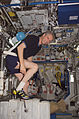 ISS-13 Thomas Reiter exercises on the CEVIS in the Destiny lab.jpg