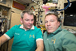 ISS-42 Aleksandr Samokutyayev and Terry Virts in the Zvezda Service Module.jpg