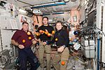 ISS-50 Shane Kimbrough, Thomas Pesquet and Peggy Whitson in the Unity module.jpg
