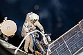 ISS-56 EVA-2 (e) Sergey Prokopyev lays cable for Icarus.jpg