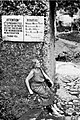 """IT""""S PROHIBITED TO ENTER WITHOUT DECENT DRESS AND FOR WOMAN HAVING MENSTRUATION, Bali. 1979.jpg"""