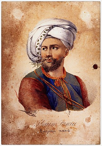 Battle of Navarino - Ibrahim Pasha, the commander of the Egyptian expedition to the Peloponnese. The atrocities committed by his forces against the Greek population made him the most reviled figure in Europe.