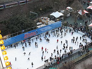 English: Ice rink, Princes Street Gardens Ever...