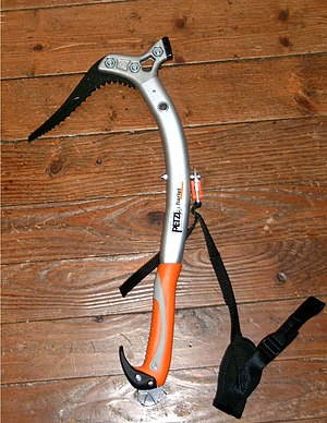 Ice tool - An ice tool with hammer fitted