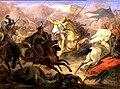 Id Wilhelm Lindenschmit Luitpold bajor herceg halála a pozsonyi csatában.jpg