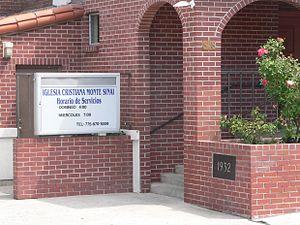Immaculate Conception Church (Sparks, Nevada) - Image: Iglesia Cristiana Monte Sinai (Sparks NV) address