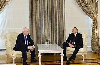 Sergey Lebedev (politician) - Lebedev with Ilham Aliyev.