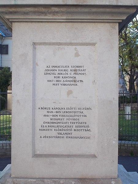 File:Immaculata column, base, 2017 Palotanegyed.jpg