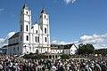 Ināra Mūrniece piedalās Vissvētākās Jaunavas Marijas debesīs uzņemšanas svētkos Aglonā (28929976201).jpg
