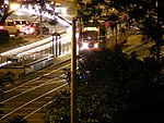 Inbound train at St Francis Circle, March 2009.jpg
