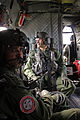 India Army Aviation officers sit aboard a CH-47 Chinook helicopter at Fort Wainwright, Alaska during a demonstration flight as a part of the 16th Combat Aviation Brigade's Subject Matter Expert Exchange.jpg