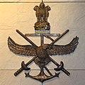 Indian Armed Forces (Triservices) logo at National War Memorial.jpg