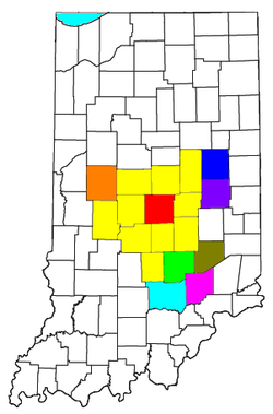 Marion County (City of Indianapolis)   Indianapolis-Carmel-Anderson, IN MSA   Muncie, IN MSA   Columbus, IN MSA   New Castle, IN µSA   Seymour, IN µSA   Crawfordsville, IN µSA   North Vernon, IN µSA   Greensburg, IN µSA