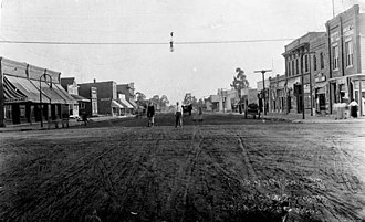 Inglewood, California - Commercial Street (later La Brea Avenue) in Inglewood, sometime around 1910