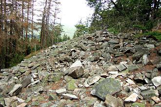 Altkönig - Remains of the Celtic ringwall atop the Altkönig