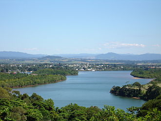 Innisfail, Queensland - The township of Innisfail, as seen from Coquette Point