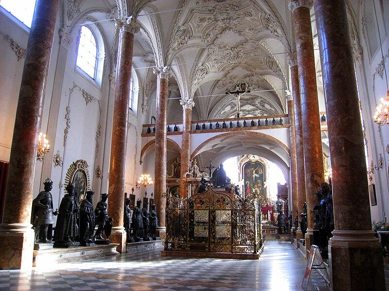 In der Hofkirche in Innsbruck, Tirol, Österreich